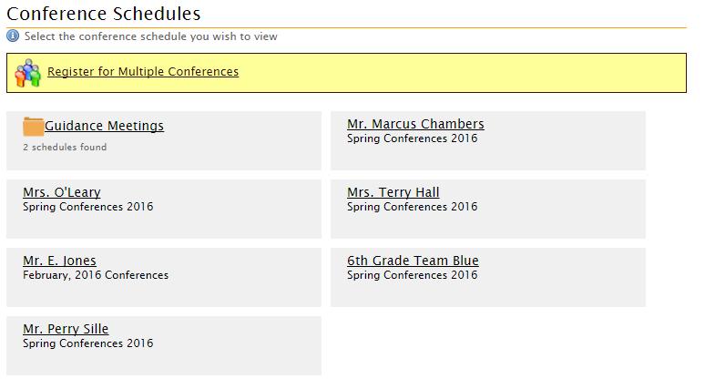 schedules online